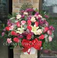 Small size sympathy flower arrangement for him $65