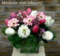 Just For You Vase Arrangement Pink And White Flowers