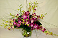 Vase Arrangement With Dendrobium Orchids