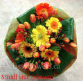 Round Bouquet With Gerbera And Tulips