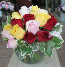 Medium size rose arrangement.