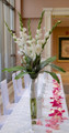 Event Table Centerpiece With Gladioluses