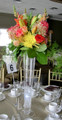 Reception Table Centerpiece With Mixed Flowers