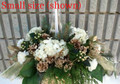 Holiday Flower Centerpiece Gold And White
