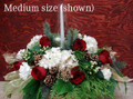 Christmas Flower Centerpiece With Chimney