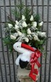 Gift Vase Arrangement With White Roses