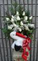 Gift Vase Arrangement With White Roses