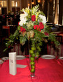 Wedding Table Centerpiece With Mixed Fall Flowers