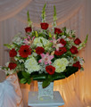 Hall Wedding Flower Arrangement