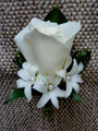 White Rose With Hyacynths Boutonniere