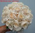 Pastel Roses with Stephanotis/Hyacinths  Bridal Bouquet
