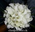 bridal bouquet with white mini calla lilies