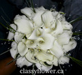 bridal bouquet with white mini calla lilies