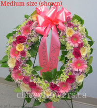 Medium size funeral standing wreath