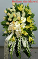 Standing Spray With White And Cream Flowers