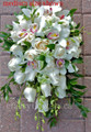 White Cymbidium, Dendrobium Orchids  And Roses Cascading Bridal Bouquet