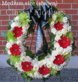 Funeral  Standing Wreath With Gerbera And Roses