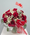 Dozen Red Roses In A Pot