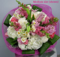 Round Bouquet With Mixed Pastel Flowers