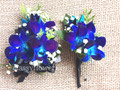 Corsage And Boutonniere Set For Prom With Blue Orchids
