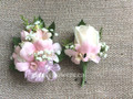 Corsage And Boutonniere Set For Prom With Roses And Orchids
