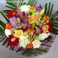 Thinking Of You Round Bouquet With Bright Flowers