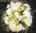 Round Bouquet With White Flowers