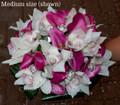 Purple Mini Calla Lilies And Orchids Bridal Bouquet