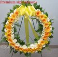 Funeral  Standing Wreath With Yellow Roses