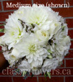 Bridal Bouquet With Dahlias And Roses.