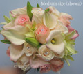 Bridal Bouquet With Mini Calla Lilies And Roses