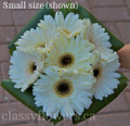 Hand Tied Bridal Bouquet With White Gerbera