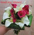 White And Red Mini Calla Lilies Bridal Bouquet