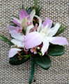 Pink Dendrobium Orchids Pin-on Corsage