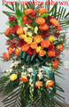 Funeral Standing Flower Spray For Him