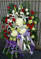 Medium funeral standing flower spay $135