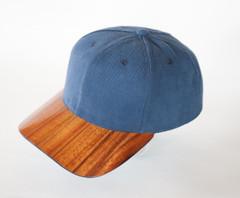 Koa Bill Hardwood Hat, Solid Fabric