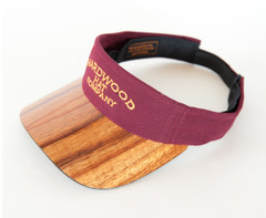 Koa Bill Visor with Logo, Solid Color Fabric