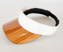 Koa Bill Visor, Solid Color Fabric