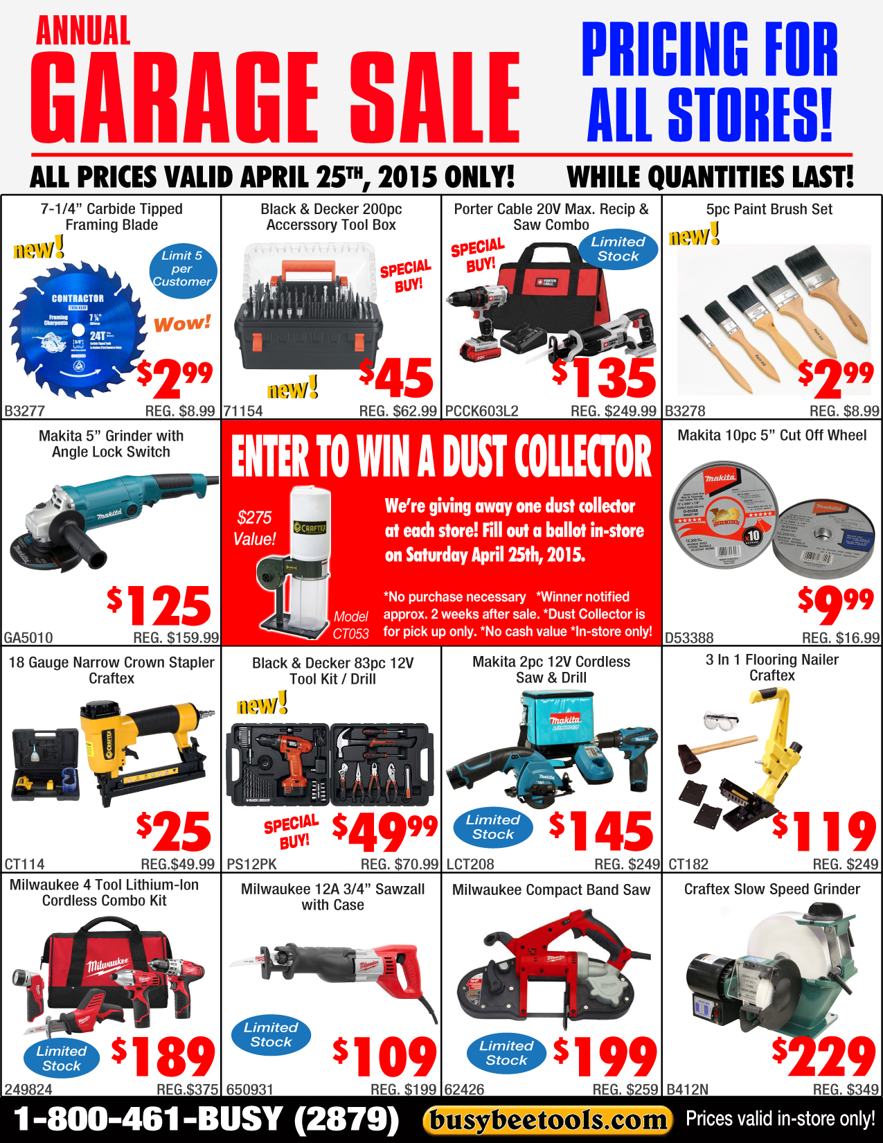 garage pricing for all stores flyer busy beetools 2015 garage flyer for all stores