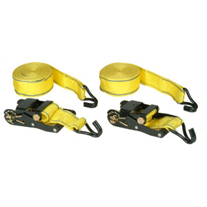 RATCHET TIE DOWN 2 PCS SET 2IN. X20FT