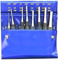 DRIVE PIN PUNCH SET 4IN. 8 PC SET