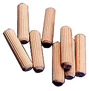 DOWELS FLUTED BIRCH 3/8IN. X 1 3/4IN. 250/PK
