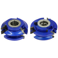 SHAPER CUTTER STILE AND RAIL SETS 1/4IN. R