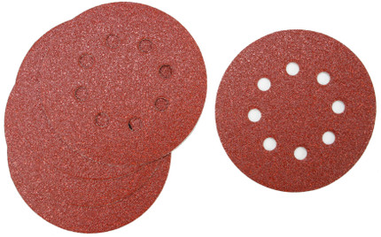 SANDING DISC 5IN. X8H 60G 5/PACK