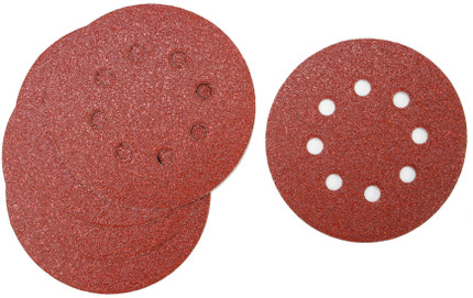 SANDING DISC 5IN. X8H 180G 5/PACK