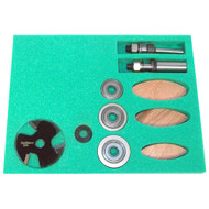 BISCUIT JOINER SET 1/2IN. AND 1/4IN. SHANK