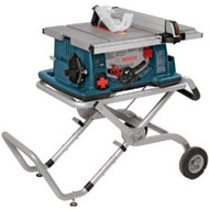TABLE SAW WITH GRAVITY RISE STAND AND