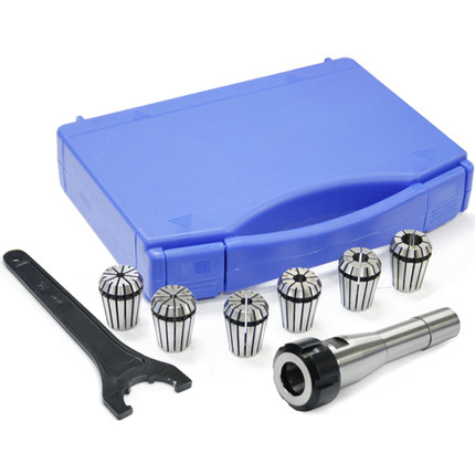 COLLET 6 PC R8 ER25 HOLDER AND SPANNER