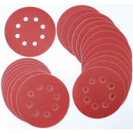 DISC SANDING 25PCS 5IN 8H 80G VELCRO